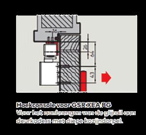 Dorma hoekconsole voor glijarm TS92-98 XEA mat zwart RAL9005