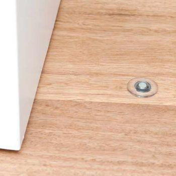 Fantom deurstop met magneet, transparant