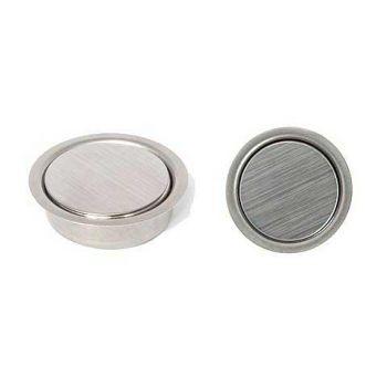 Inbouw RVS magneetdeursluiter, contactloos, zwaar, onzichtbaar