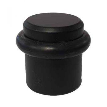Vloer- deurstopper voor vloermontage, mat zwart