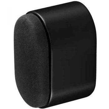 Deurbuffer voor wandmontage 25x38 mm, mat zwart