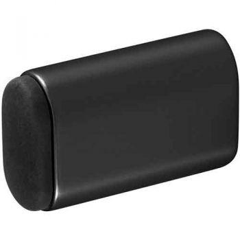 Deurbuffer voor wandmontage 60X38 mm, mat zwart