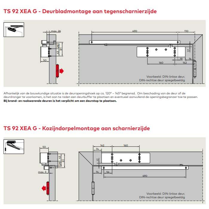 Montage voorbeeld TS92G XEA